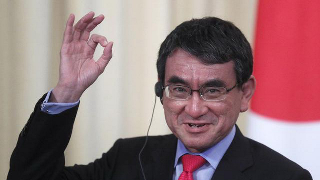 河野太郎宣布 角逐自民黨總裁