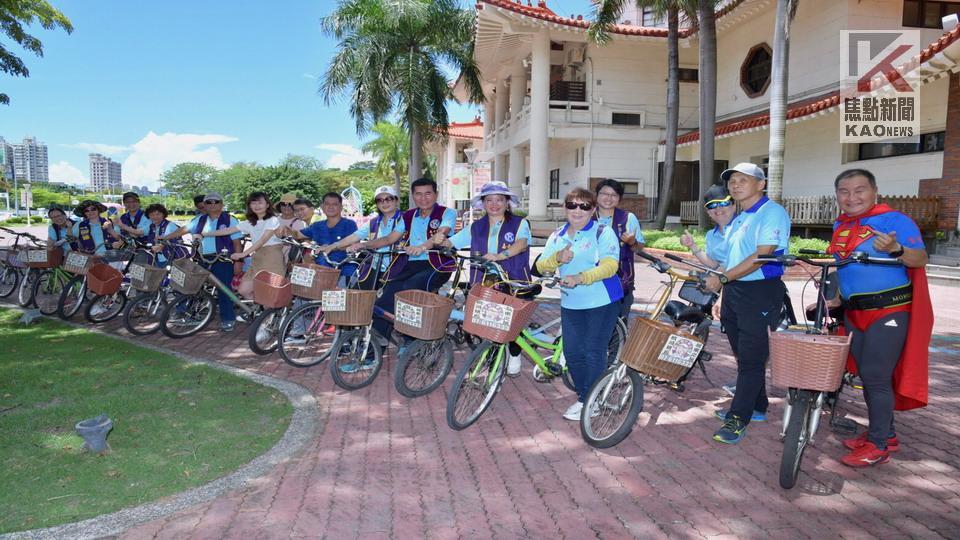 影/曈心協力 嘉合同濟會辦理騎單車捐贈物資愛心活動
