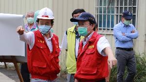 璨樹颱風來襲 林欽榮視察大社易淹水地區