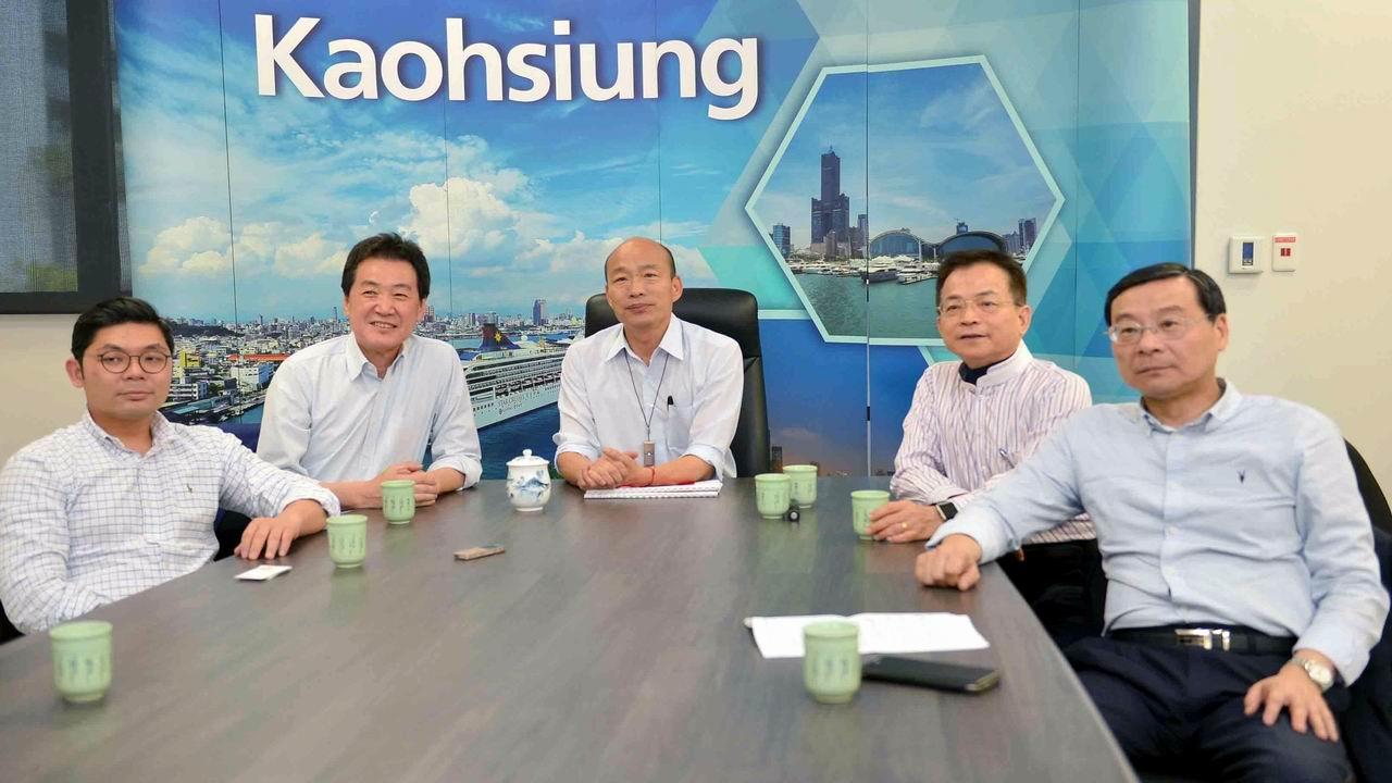 費鴻泰賴士葆拜會高市府 韓國瑜談發展願景與競爭力