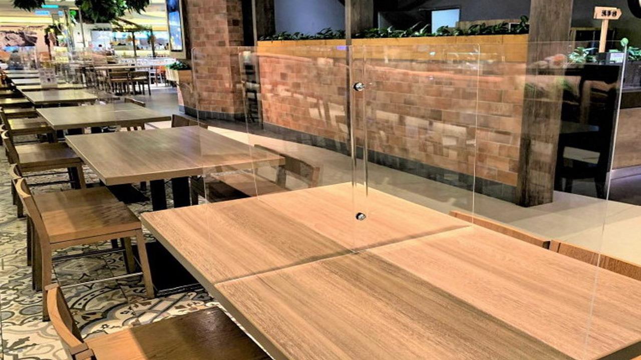 放寬防疫 餐飲場所用餐不限制使用隔板