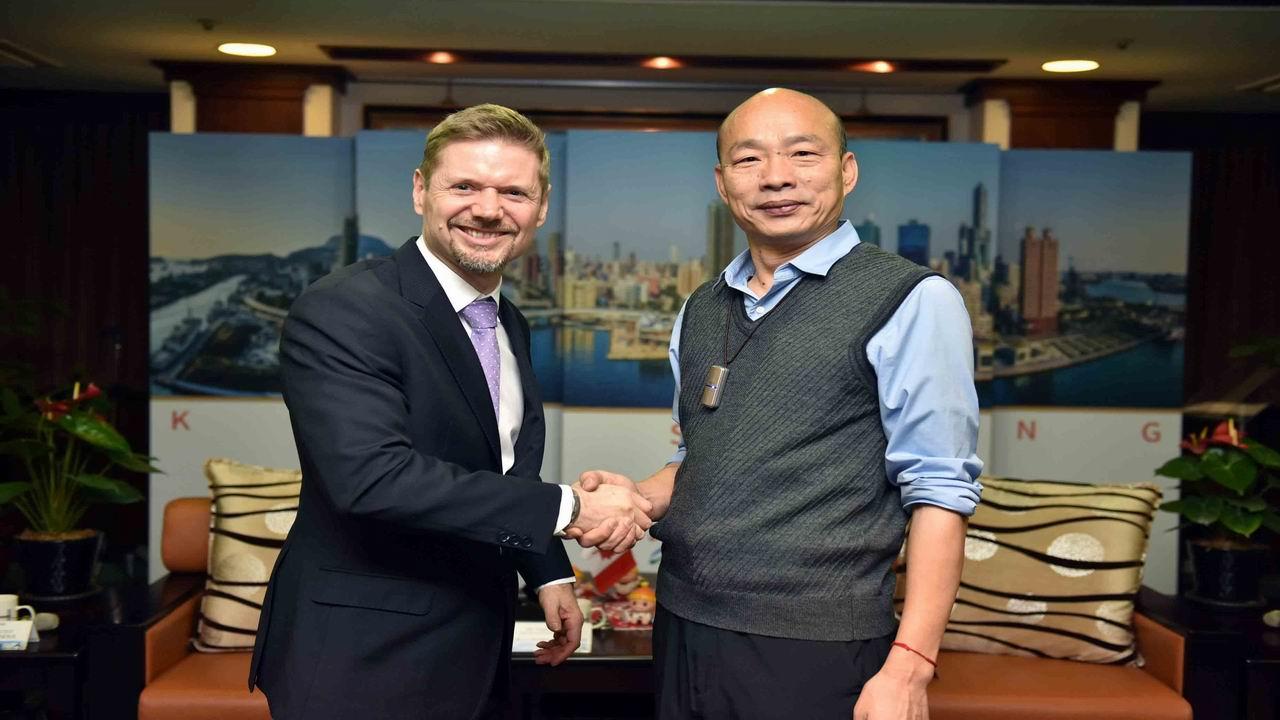 緊密投資 加拿大駐台北貿易辦事處代表拜會韓國瑜