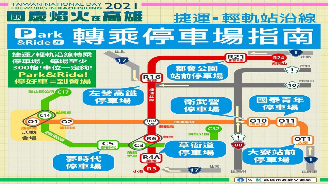 國慶焰火 高雄三階段交通管制
