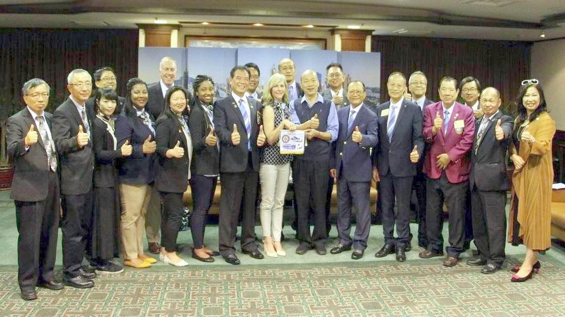 國際扶輪社拜會 韓國瑜:歡迎到高雄