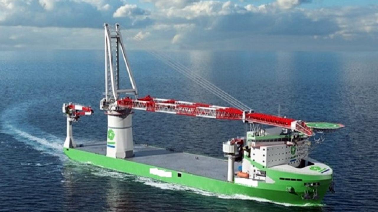 台船公司打造台灣首艘大型浮吊船 落實離岸風電在地化任務