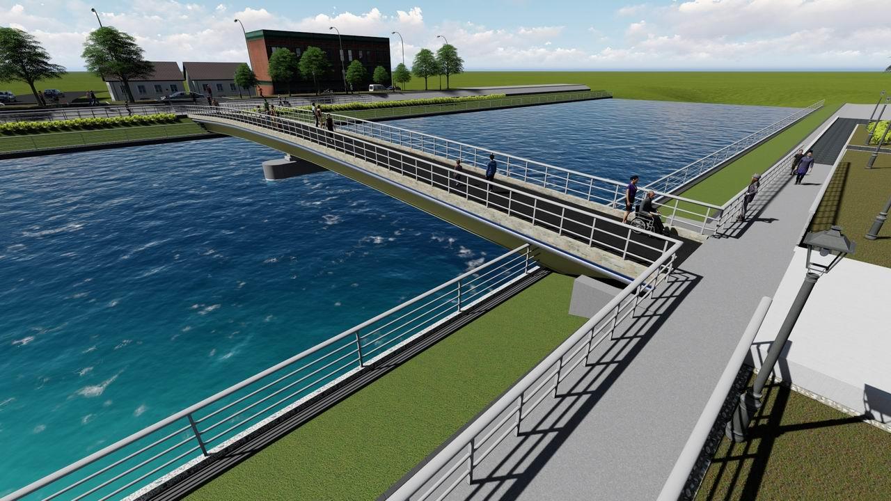 五甲草衙往來更方便 前鎮河第二座人行景觀橋將動工