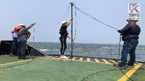 台灣港勤與台大合作 提升生態監測儀器佈放作業技術