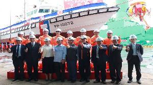 台船舉辦100噸級巡防救難艇下水典禮