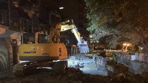 文寧街護岸擠壓破損 水利局緊急辦理搶修